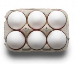 White Egg 6 Pcs